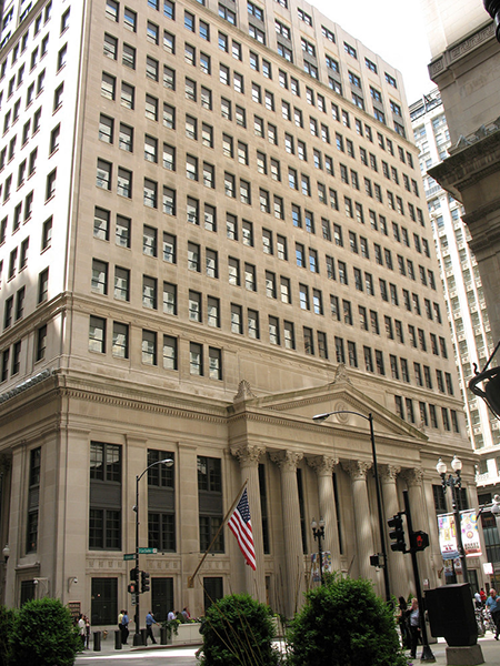 Federal Reserve Bank of Chicago view from the street