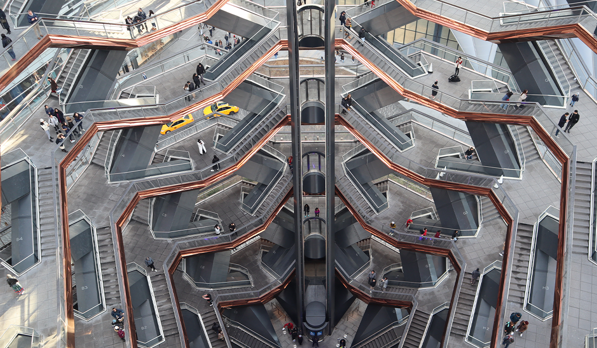 NY Hudson Yards view from the top